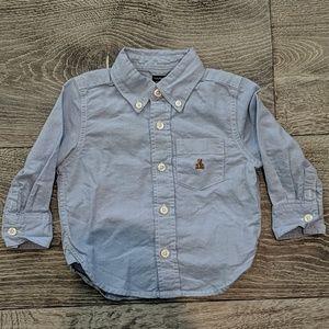 BabyGap Long-sleeve Button Down Blue Shirt